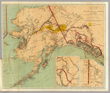 Gold And Coal Fields Of Alaska Geological Survey US - Map of gold in the us