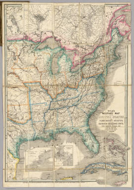 Military Map Of The United States Wyld James - Us map 1861