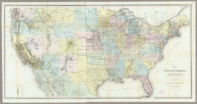 Of The United States And Territories US General Land Office - 1867 us map