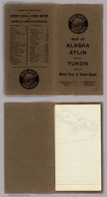 (Covers to) Map Of White Pass & Yukon Route And Connections. White Pass & Yukon Route ... Copyright, 1917, by White Pass & Yukon Route. (inset) Map of Atlin Lake District. Poole Bros. Chicago. (Ed. of) 4-10-'22.