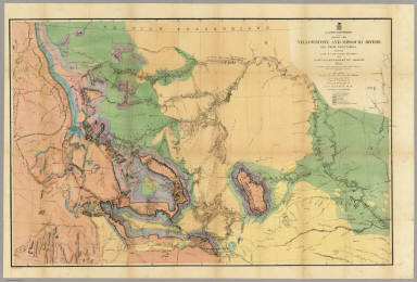 Map Of The Yellowstone And Missouri Rivers. / Hayden, F.V. / 1869