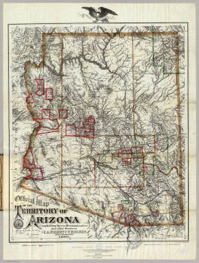 Official Map Of The Territory Of Arizona. / Eckhoff, E.A. ; Riecker, P. / 1880