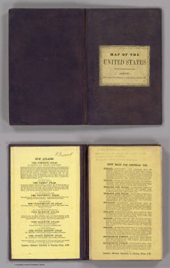 (Covers to) United States. W. & A.K. Johnston, Edinburgh. (inset) Plan Of Charleston, Vicinity And Harbour.