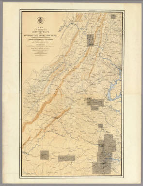 Gettysburg Us Map.Map Of The Region Between Gettysburg Pa And Appomattox Court House