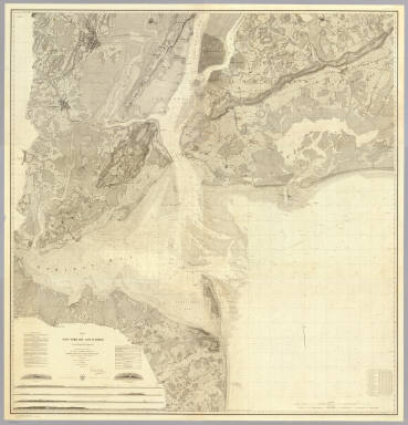 Map of New-York Bay And Harbor And The Environs. / United States Coast Survey / 1844