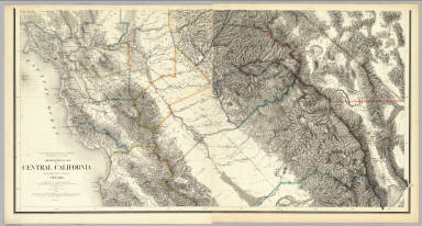 Topographical Map of Central California Together With a Part of ...