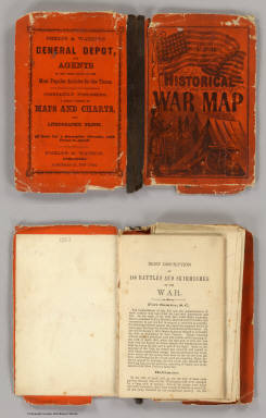 Cover: Historical &  military map, Border & Southern States. / Phelps & Watson / 1863