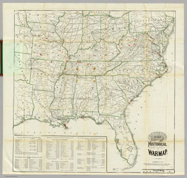 The Historical War Map. / Asher & Company ; Russell, Benjamin B. / 1862