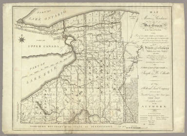 Map of Morris's Purchase or West Geneseo In the State of New York. / Ellicott, Joseph & B. / 1804