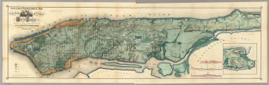 Sanitary & Topographical Map of the City and Island of New York. / Viele, Egbert L. / 1865
