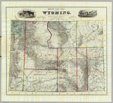 Holt's New Map Of Wyoming. / Holt, George L. / 1885