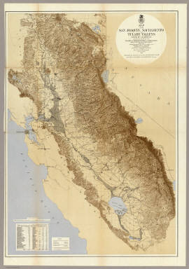 Map Of The San Joaquin Sacramento And Tulare Valleys California