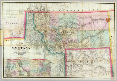 Map Of The Territory Of Montana. / DeLacy, W.W. ; G.W. & C.B. Colton & Co. / 1872