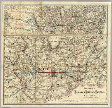 Central Indiana Map.Maps Showing The Indiana Illinois Central Railway G W C B