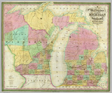 Map of the State of Michigan and Territory of Wisconsin. / Tanner, Thomas R. / 1839