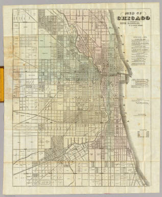 Map Of Chicago. / Blanchard, Rufus / 1857