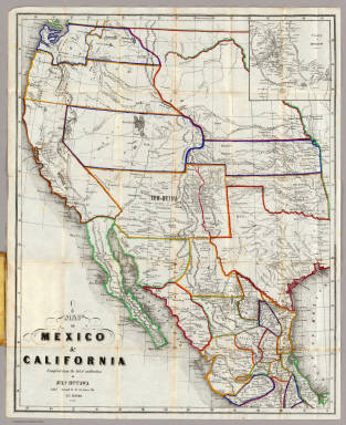 Map Of California Mexico.Map Of Mexico California Hutawa Julius 1863