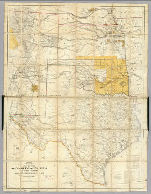 Map Of The States Of Kansas And Texas And Indian Territory US