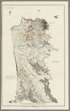 Francisco Peninsula United States Coast Survey 1869