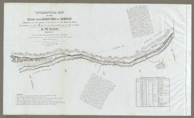 Topographical Map Of The Road From Missouri To Oregon, Commencing At The Mouth Of The Kansas In The Missouri River And Ending At The Mouth Of The Wallah Wallah In The Columbia. In VII Sections. Section II. From the field notes and journal of Capt. J.C. Fremont, and from sketches and notes made on the ground by his assistant Charles Preuss. Compiled by Charles Preuss, 1846 By order of the Senate of the United States ... Lithogr. by E. Weber & Co. Baltimore ...