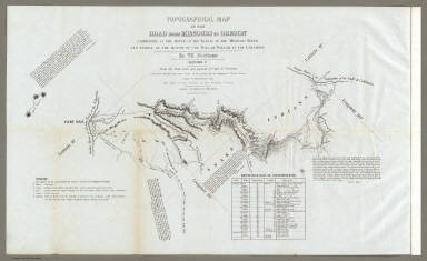 Topographical Map Of The Road From Missouri To Oregon, Commencing At The Mouth Of The Kansas In The Missouri River And Ending At The Mouth Of The Wallah Wallah In The Columbia. In VII Sections. Section V. From the field notes and journal of Capt. J.C. Fremont, and from sketches and notes made on the ground by his assistant Charles Preuss. Compiled by Charles Preuss, 1846 By order of the Senate of the United States ... Lithogr. by E. Weber & Co. Baltimore ...
