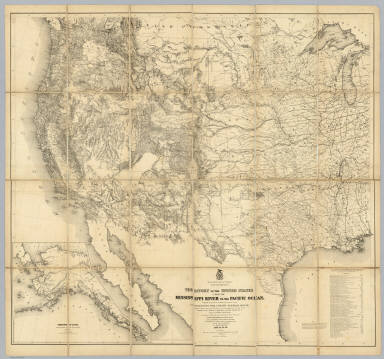 Territory Of The United States From The Mississippi River To The Pacific Ocean. / Warren, Gouverneur Kemble, 1830-1882 ; Freyhold, Edward / 1868
