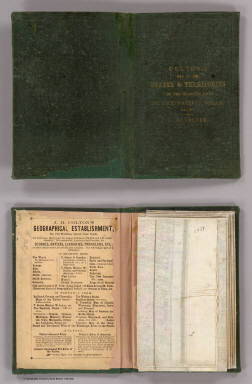 (Covers to) Colton's Map Of The States And Territories West Of The Mississippi River To The Pacific Ocean Showing The Overland Routes, Projected Rail Road Lines &c. Published By J.H. Colton, No. 172 William St. New York. 1864. Entered ... 1864, by J.H. Colton ... New York.