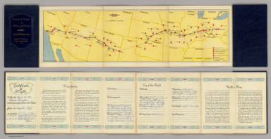 Air Route from Los Angeles to Columbus. / Transcontinental Air Transport, Inc. / 1929