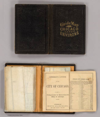 Cover: Chicago and environs. / Blanchard, Rufus / 1869