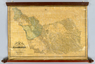 Official Map Of The County Of Alameda California Surveyed and compiled by Order of the Board of Supervisors. Horace A. Higley, County Surveyor. April - 1857. Lithy. of Britton & Rey, S.F.
