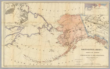 Northwestern States Map.Northwestern America Showing The Territory Ceded By Russia To The