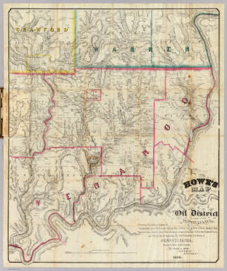 Howe's Map Of The Oil District Of Pennsylvania. / Howe, Henry G. / 1866