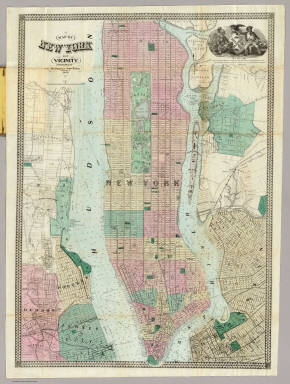 Map Of New York and Vicinity. / Dripps, Matthew / 1863