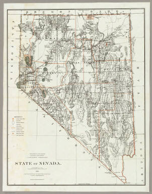 State Of Nevada. / U.S. General Land Office / 1879
