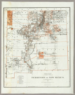 Territory Of New Mexico. / U.S. General Land Office / 1879