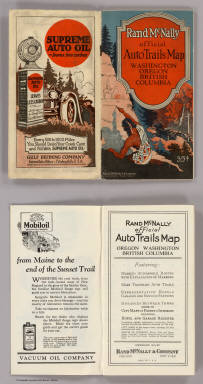 (Covers to) Rand McNally Official 1925 Auto Trails Map Washington Oregon. Copyright by Rand McNally & Company Chicago, Ill. Made in U.S.A. (on verso) Rand McNally Official 1925 Auto Trails Map British Colombia. Copyright by Rand McNally & Company Chicago, Ill. Made in U.S.A.