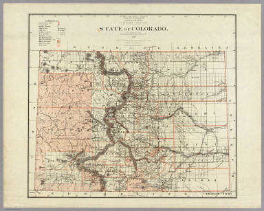 State of Colorado. / U.S. General Land Office / 1879
