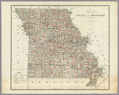 Of Missouri US General Land Office - Map of state of missouri