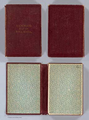 (Covers to) Mackinlay's map of the Province of Nova Scotia, including the island of Cape Breton. Compiled from actual & recent surveys. Published By A. & W. Mackinlay, No. 10 Granville Street, Halifax, N.S. Engraved by G. Philip & Son, Liverpool. Drawn by W.A. Hendry. (1868)