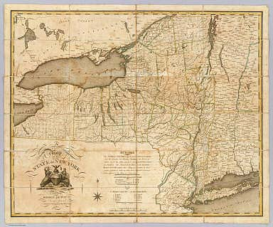 A Map of the State Of New York. By Simeon DeWitt, Surveyor General Contracted from his large Map of the State 1804. Entered ... 19th day March 1804 by Simeon DeWitt ... New York. G. Fairman del. & Sculp. ...
