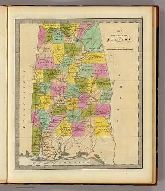 Map Of The State Of Alabama Greenleaf Jeremiah 1840