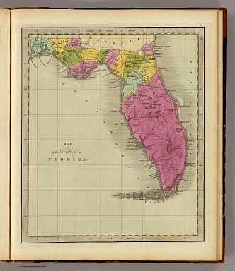 Map of the Territory of Florida. / Greenleaf, Jeremiah / 1840