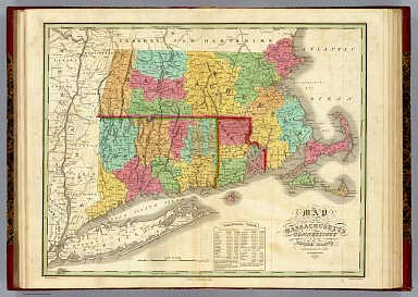 Map of Massachusetts Connecticut And Rhode Island. / Finley, Anthony ...