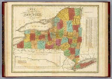Map Of The State Of New York. / Finley, Anthony / 1826