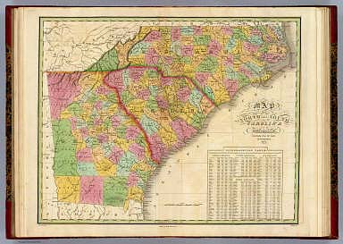 Map Of North and South Carolina And Georgia. / Finley, Anthony / 1826