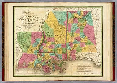 Map Of Louisiana Mississippi And Alabama  Finley