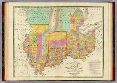 Map Of The States Of Ohio Indiana Illinois And Part Of Michigan