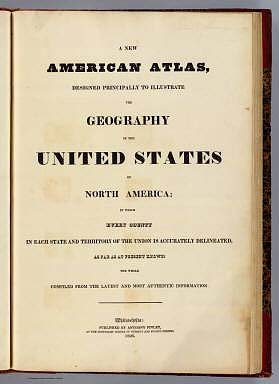 Title Page: New American atlas. / Finley, Anthony / 1826