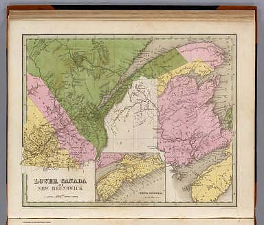 Lower Canada And New Brunswick. (with) Nova Scotia. Engd. by G.W. Boynton. Entered ... 1838 by T.G. Bradford ... Massachusetts.