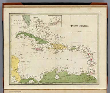 West Indies. (with) Bermudas. Engraved by G.W. Boynton. Entered ... 1838, by T.G. Bradford ... Massachusetts.